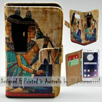 AU14.98 • Buy For OPPO Series - Ancient Egypt Theme Print Wallet Mobile Phone Case Cover