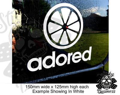 £2.95 • Buy STONE ROSES OASIS Sticker INDIE Adored IAN BROWN Wall Scooter Music 45 COLOURS!