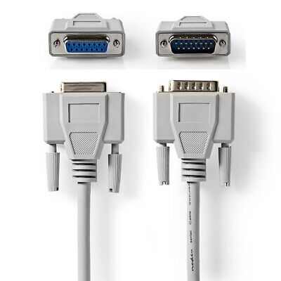 3m Serial Cable D-sub 15 Pin Male To Female Lead D Sub 15-pin Join Extend • 6.39£