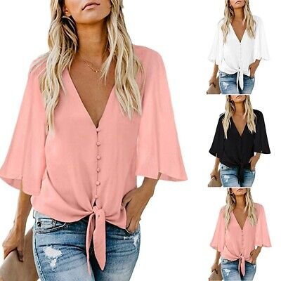 AU14.24 • Buy AU Women Short Sleeve Loose T Shirts Ladies Summer Casual Blouse Tops Shirt