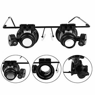 20X Magnifier Magnifying Eye Glass Loupe Jeweler Watch Repair Kit With LED • 4.39£