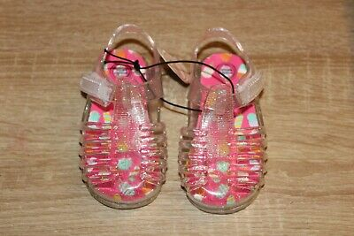 $6.97 • Buy NEW Wonder Nation Toddler Girl's Jelly Sandals Glittery Clear