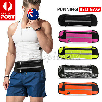 AU7.95 • Buy Running Bum Bag Fanny Pack Travel Waist Bags Money Zip Belt Pouch Sports Wallet