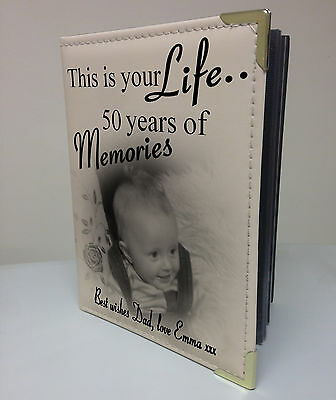 Personalised Photo Album, Memory Book, This Is Your Life, 50th Birthday Gift • 15.99£