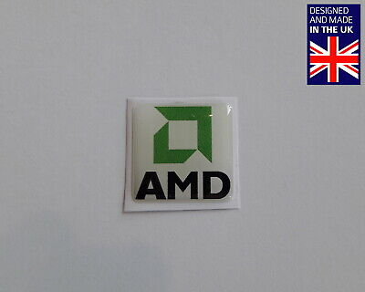 AMD 25 X 25mm 1  Domed PC Case Badge Logo Decal K6 Athlon XP 64 Duron Phenom FX • 3.75£