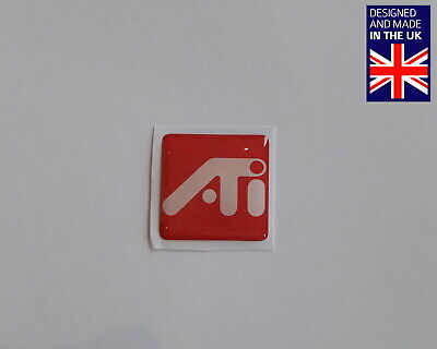 ATI 25 X 25mm 1  Domed PC Case Badge Logo Decal Mach Rage Fury Maxx HD Radeon • 3.75£