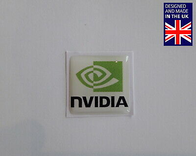 Nvidia 25 X 25mm 1  Domed PC Case Badge Logo Decal Riva TNT 256 MX Ti GeForce • 3.75£