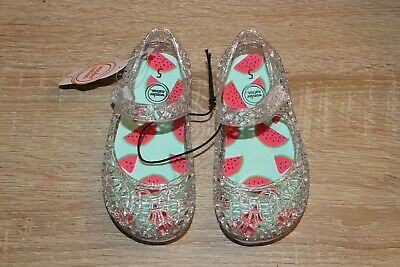 $6.97 • Buy NEW Wonder Nation Toddler Girl's Jelly Sandals Clear Glittery