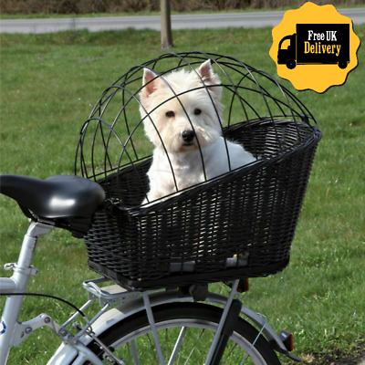 Rear Mounted Bicycle Rack Travel Cycling Basket Dog Cat Bike Carrier Wicker NEW! • 43.89£