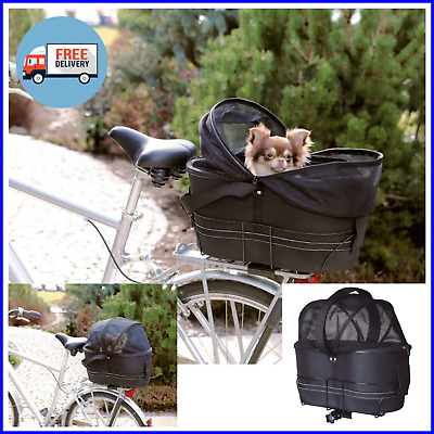 View Details DOG CAT PET CARRIER - Safe Travel Bike Bicycle Cycle Basket Bag For Cycling • 52.99£