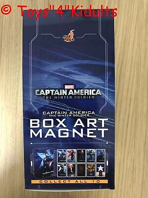 AU123.40 • Buy Hot Toys Captain America The Winter Solider Box Art Magnet Box 10 Of Set NEW