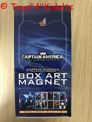 AU138.85 • Buy Hot Toys Captain America The Winter Solider Box Art Magnet Box 10 Of Set NEW