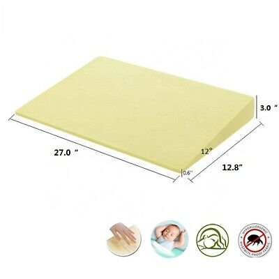 £14.89 • Buy Cot Bed Wedge Pillow Anti Reflux Colic Cushion Anti-Spit Milk Baby Wedge 27x13x3