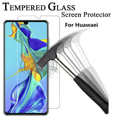 Tempered Glass Screen Protector For Huawei P30 Pro P20 P9 P10 P8 Lite Honor 9 10 • 1.59£