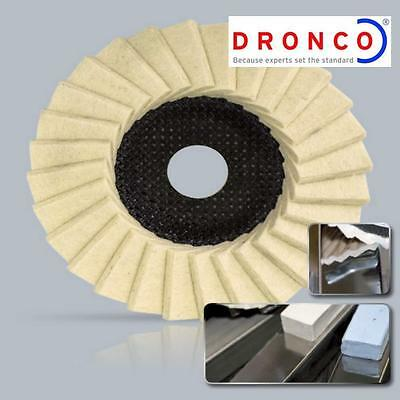DRONCO 115 Mm ANGLE GRINDER GLOSS POLISHING FLAP DISC MADE IN GERMANY  • 5.99£