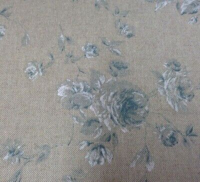 Vintage Linen Petite Faded Rose Duckegg Blue 140cm/54  Curtain/Craft Fabric  • 15.95£