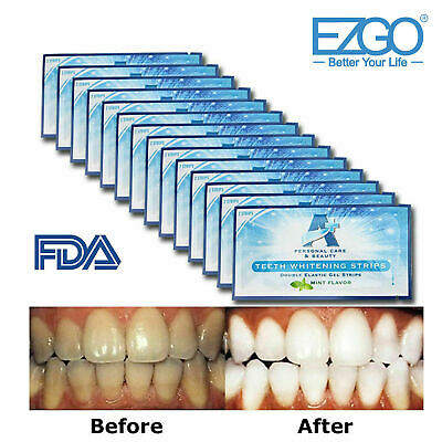 AU14.99 • Buy EZGO A+ 3D Teeth Whitening Strips Non Sensitive Cleaning Teeth -28pc