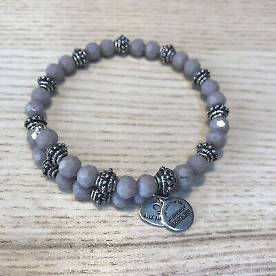 AU69 • Buy ALEX AND ANI The New Day Lilac Purple Beaded Thistle Bloom Wrap Bracelet
