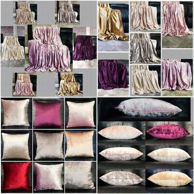 £17.99 • Buy Throw Over Bedspread Shiny Crushed Velvet Sofa Or Bed Cushion Cover 8 Colours