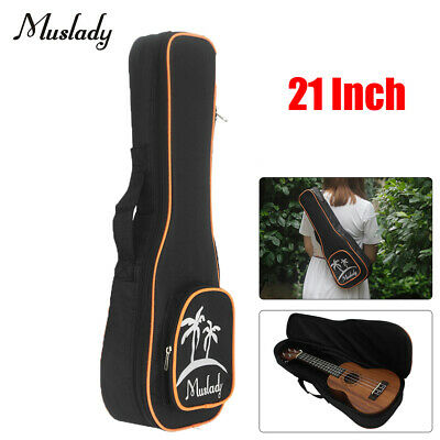 AU16.77 • Buy Muslady 21'' Soprano Ukulele Bag Uke Ukelele Zippered Case Coconut Tree Pattern