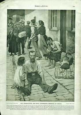 Antique B&W Illustrated Print Gunning King & Contents From Bibbys Annual 1914 • 6.50£