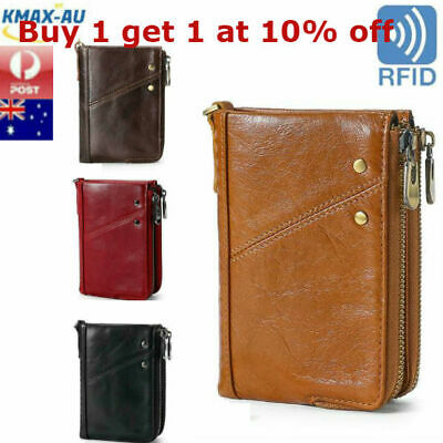 AU25.99 • Buy  RFID Blocking Genuine Leather Mens Wallet Purse Coin Money Card Clip ID Holder