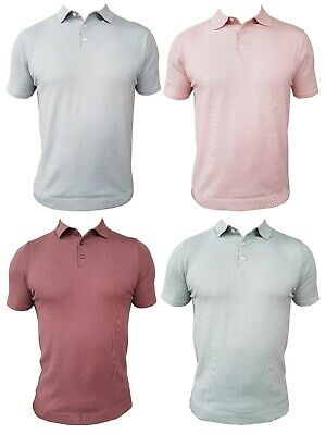 Mens Marks & Spencer Fitted Knitted Polo Shirt M&s Fashion Smart Casual • 9.99£