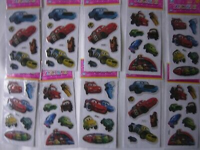 10 Stickers Children Kids Boys Party Filler Loot Gifts Bags Disney Cars • 2.45£