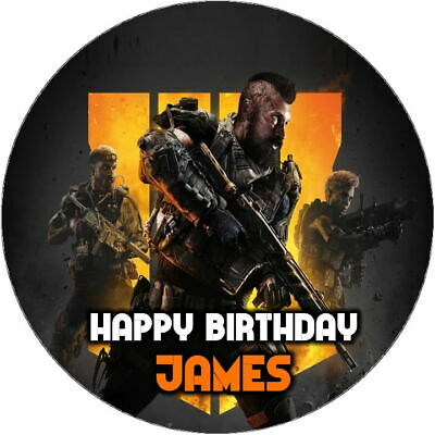 £3.14 • Buy CALL OF DUTY PERSONALISED CAKE TOPPER EDIBLE - Up To 7.5 Inches