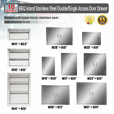 $47.40 • Buy Multi-size BBQ Double Single Doors Drawer Outdoor Kitchen Stainless Steel Access