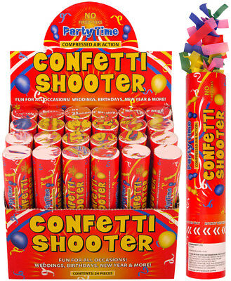 £7.49 • Buy Handheld Confetti Shooter Cannons Poppers Foil Streamer Wedding Party 20cm MULTI