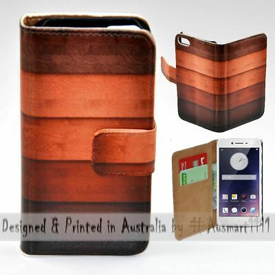 AU14.98 • Buy For OPPO Series - Timber Pattern Print Wallet Mobile Phone Case Cover