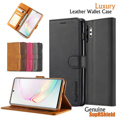 AU10.95 • Buy For Samsung Galaxy Note 10 20 Plus 8 9 S6 S7 Edge Wallet Case Leather Flip Cover