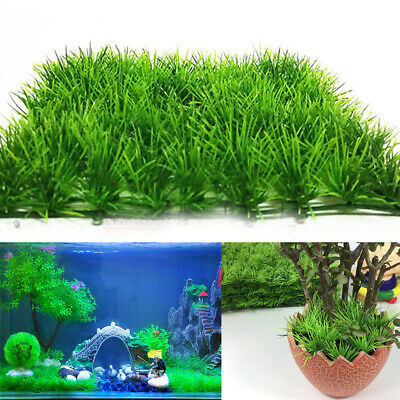 Artificial Aquarium Decor Fake Grass Landscap Lawn Fish Tank Water Aquatic Plant • 3.59£