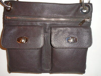 $ CDN94.44 • Buy  Danier Leather Village Bag  6 Pocket/pouch  X Body Messenger  Retail $188