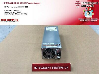 HP MSA2000 G3 595W Power Supply  -  592267-001 • 45£