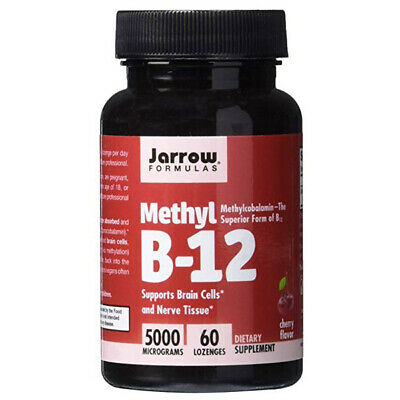 Jarrow Formulas Methylcobalamin Methyl B12 Supp Brain Cells 5000 Mcg 60 Lozenges • 11.47£
