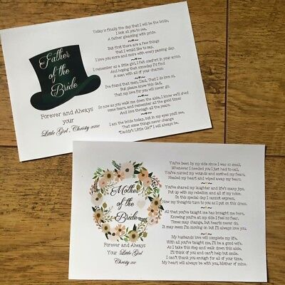 1 DAY SALE Mother And Father Of The Bride, Groom Gift • 5£