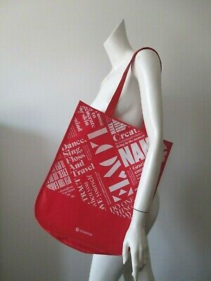 $ CDN12.12 • Buy Lululemon 20y Manifesto Reusable Gym Shopping Eco Snap Tote Bag Size L 14x16