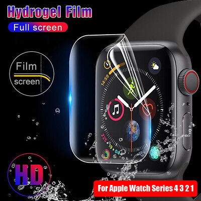 $ CDN3.15 • Buy TPU Protective Film For IWatch Apple Watch Series 4 3 2 1 Screen Protectors