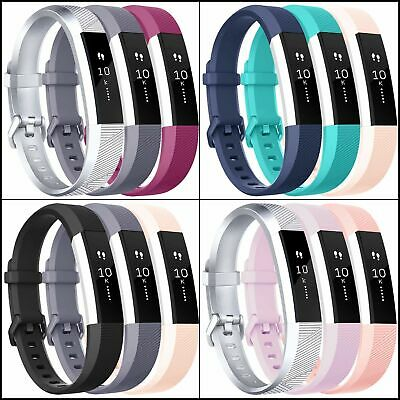 AU19.26 • Buy Bands For Fitbit Alta HR & Fitbit Alta,Sport Silicone Wristbands Metal Buckle