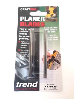 Trend  82mm Tungsten  Planer Blades Dewalt Bosch Makita Choose Model Below  . A  • 9.99£