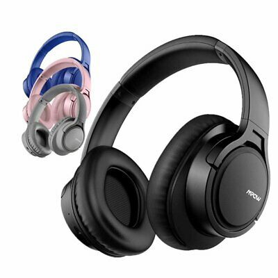 Mpow H7 Wireless Bluetooth Headset Headphones Over Head Stereo Noise Cancelling • 23.74£