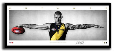 AU195 • Buy Dustin Martin Mini Wings Richmond Fc Afl Print Signed Framed Memorabilia