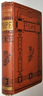 $150 • Buy ALEXANDER POPE! VICTORIAN BINDING! Antiquarian Book Old Gift