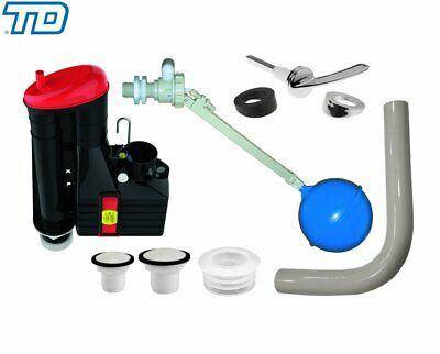 Dudley Low Level Toilet Cistern Kit Syphon & Inlet Ball Valve For Vitra Berwick • 36£