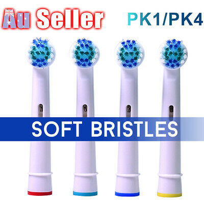 AU6.25 • Buy 4 Electric Replacement Toothbrush Brush Heads Oral B Braun Models Compatible