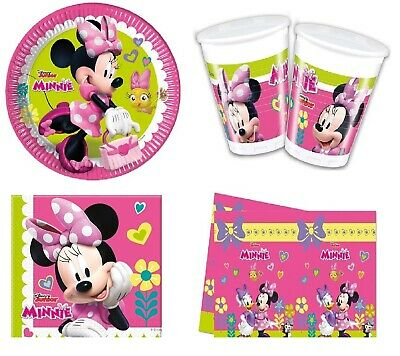 Disney Minnie Mouse Girls Birthday Party Decorations Plates Cups Napkins  • 27.99£