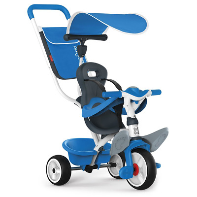 Smoby Push Along Toddler Trike With Headrest, Removable Parent Handle And Safety • 115.11£