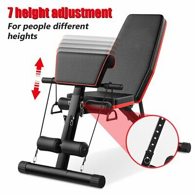 Foldable Incline Decline Multiuse Exercise Workout Bench Adjustable Weight Bench • 61.59£